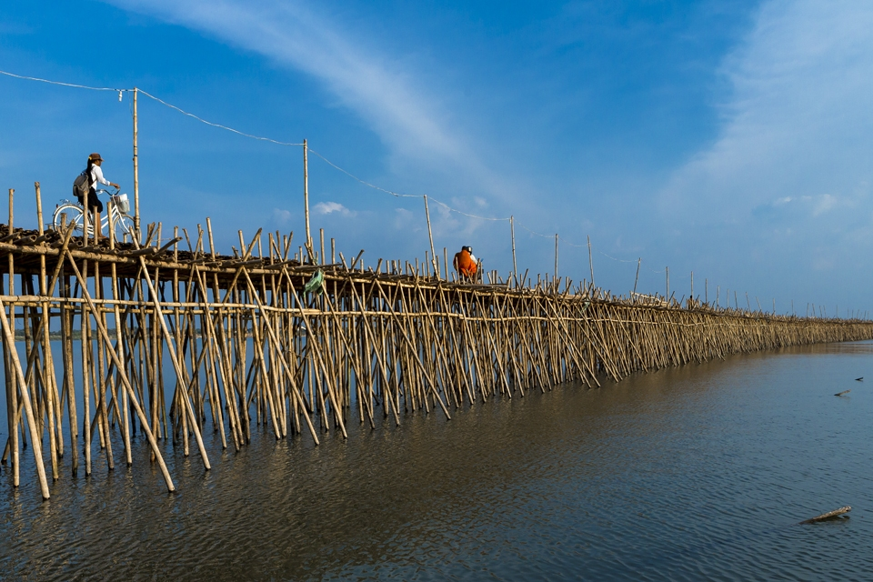 Image result for koh paen bamboo bridge